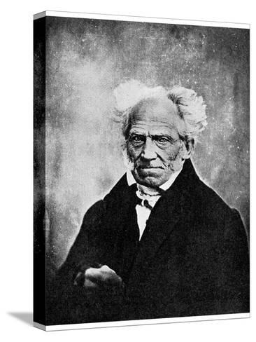 Nihilism: Arthur Schopenhauer, German Philosopher, 19th Century--Stretched Canvas Print