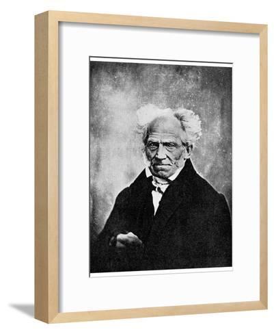 Nihilism: Arthur Schopenhauer, German Philosopher, 19th Century--Framed Art Print
