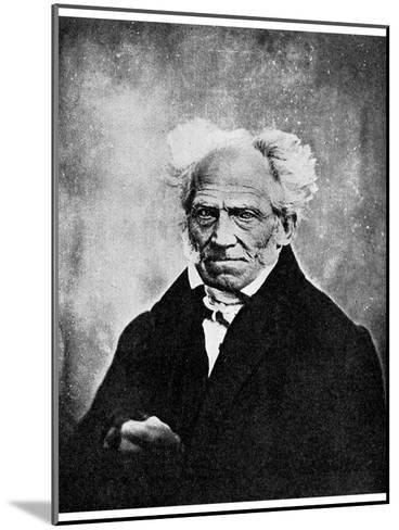 Nihilism: Arthur Schopenhauer, German Philosopher, 19th Century--Mounted Giclee Print