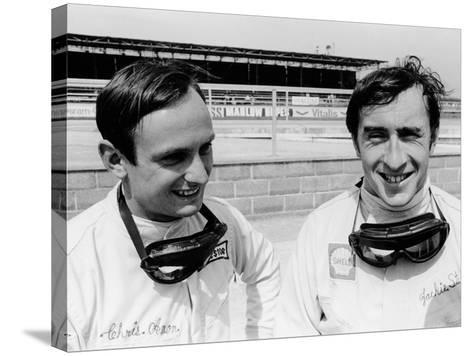 Jackie Stewart and Chris Amon, 1967--Stretched Canvas Print