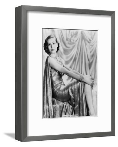 Valerie Hobson, British Actress, C1936-C1939--Framed Art Print