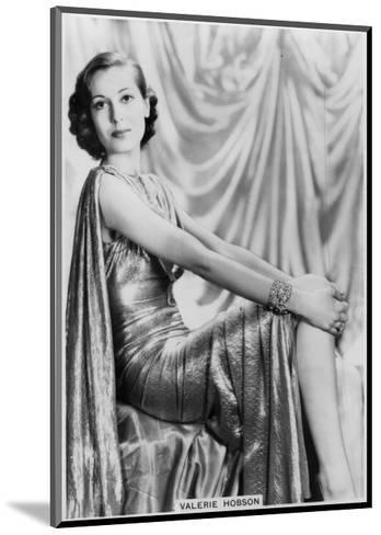 Valerie Hobson, British Actress, C1936-C1939--Mounted Giclee Print