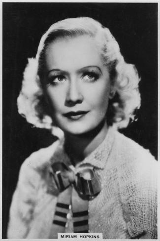 Miriam Hopkins, American Actress, 1938--Stretched Canvas Print