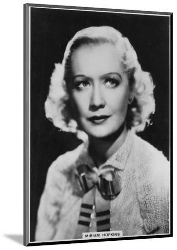 Miriam Hopkins, American Actress, 1938--Mounted Giclee Print