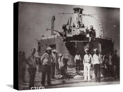 Uprising on the Battleship 'Potemkin, Constanta, Romania, 1905--Stretched Canvas Print