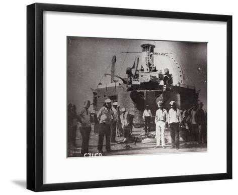 Uprising on the Battleship 'Potemkin, Constanta, Romania, 1905--Framed Art Print