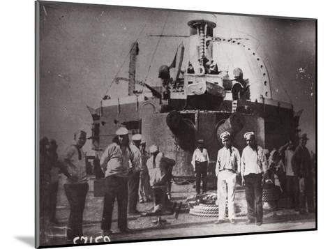 Uprising on the Battleship 'Potemkin, Constanta, Romania, 1905--Mounted Giclee Print