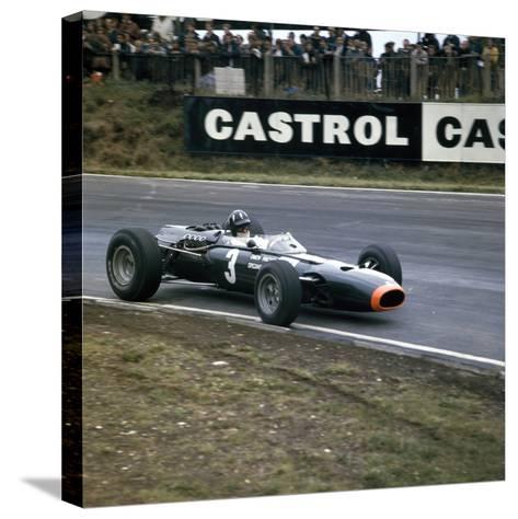 Graham Hill Racing a Brm P261, British Grand Prix, Brands Hatch, Kent, 1966--Stretched Canvas Print