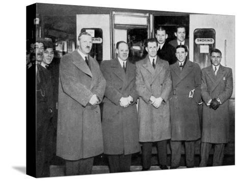 En Route for Wolverhampton for the England V Wales Football Match, 1936--Stretched Canvas Print