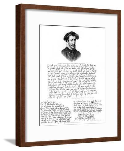 Portrait of Thomas Howard, 4th Duke of Norfolk, 1572--Framed Art Print