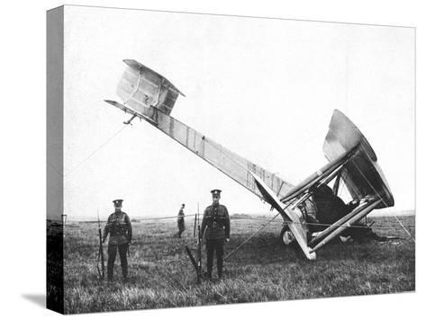Alcock and Brown's Aeroplane after Completing the First Non-Stop Transatlantic Flight, 1919--Stretched Canvas Print