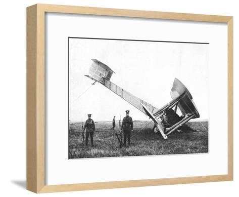 Alcock and Brown's Aeroplane after Completing the First Non-Stop Transatlantic Flight, 1919--Framed Art Print