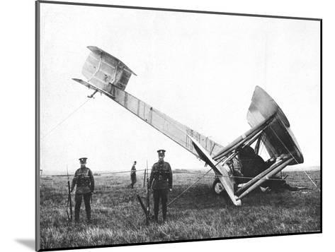 Alcock and Brown's Aeroplane after Completing the First Non-Stop Transatlantic Flight, 1919--Mounted Giclee Print