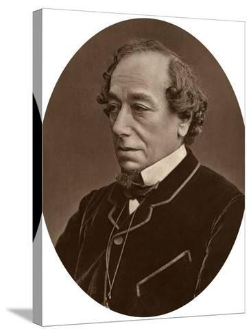 Benjamin Disraeli, Earl of Beaconsfield, Prime Minister, 1881--Stretched Canvas Print