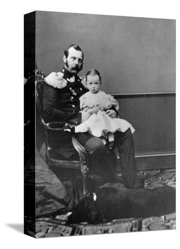 Tsar Alexander II of Russia with His Son, Grand Duke Paul Alexandrovich, C1860-C1861--Stretched Canvas Print