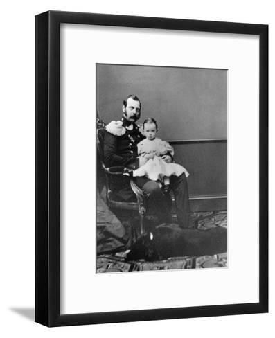 Tsar Alexander II of Russia with His Son, Grand Duke Paul Alexandrovich, C1860-C1861--Framed Art Print
