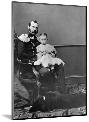 Tsar Alexander II of Russia with His Son, Grand Duke Paul Alexandrovich, C1860-C1861--Mounted Giclee Print