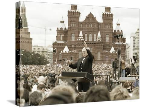 Mstislav Rostropovich, Russian Conductor, Red Square, Moscow, Russia, 1993--Stretched Canvas Print