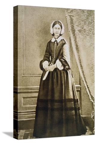 Florence Nightingale, English Nurse and Hospital Reformer, C1850S--Stretched Canvas Print