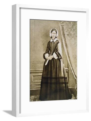 Florence Nightingale, English Nurse and Hospital Reformer, C1850S--Framed Art Print