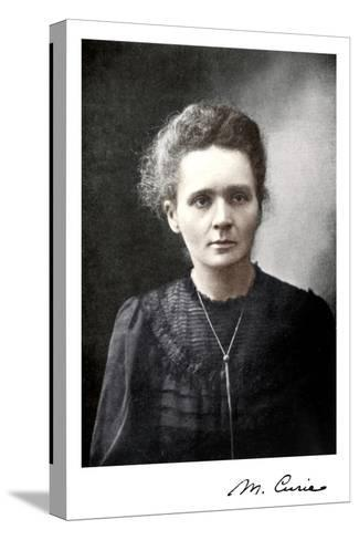 Marie Curie, Polish-Born French Physicist, 1917--Stretched Canvas Print