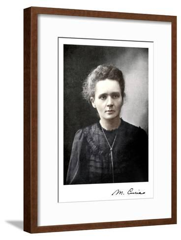 Marie Curie, Polish-Born French Physicist, 1917--Framed Art Print