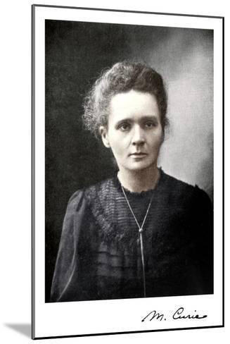 Marie Curie, Polish-Born French Physicist, 1917--Mounted Giclee Print
