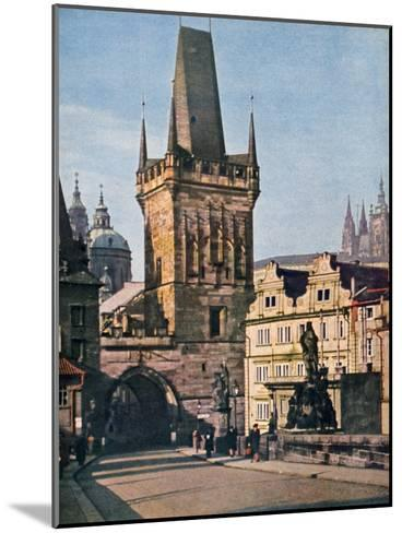 The Old Town End of the King Charles Bridge, Prague, Czech Republic, 1943--Mounted Giclee Print