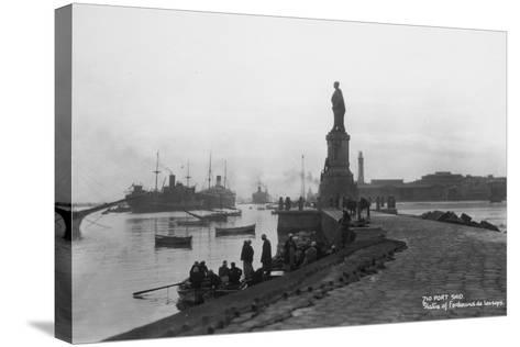Statue of Ferdinand De Lesseps, Port Said, Egypt, C1920s-C1930s--Stretched Canvas Print