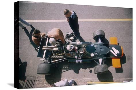 John Surtees in His Brm at the British Grand Prix, Silverstone, Northamptonshire, 1969--Stretched Canvas Print