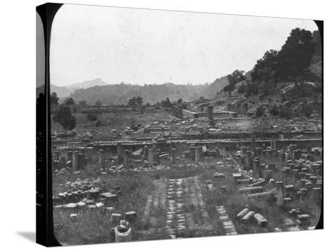 Mount Kronos and Temple of Hera, Olympia, Greece, Late 19th or Early 20th Century--Stretched Canvas Print