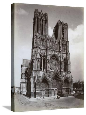 Cathedral of Notre-Dame, Reims, France, Late 19th or Early 20th Century--Stretched Canvas Print