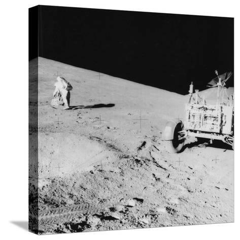 Astronaut David Scott (B193) on the Slope of Hadley Delta During Apollo 15, 1971--Stretched Canvas Print