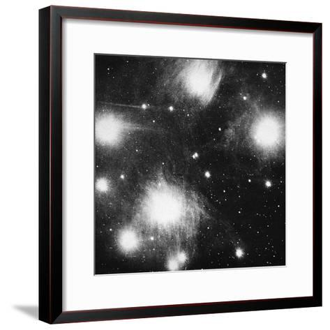Constellation of the Pleiades (Seven Sister), 1908--Framed Art Print