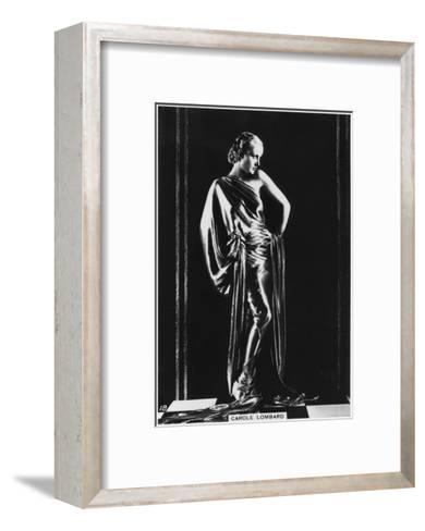 Carole Lombard, American Film Actress, C1938--Framed Art Print