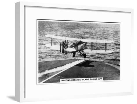 Fairey III F Reconnaissance Plane Taking of from the Aircraft Carrier HMS Courageous, 1937--Framed Art Print