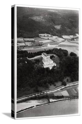 Aerial View of the Walhalla Temple, Near Regensburg, Germany, from a Zeppelin, C1931--Stretched Canvas Print