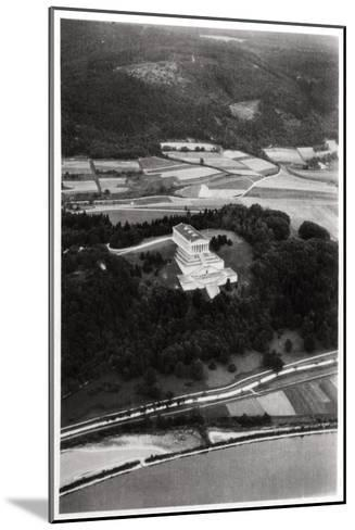 Aerial View of the Walhalla Temple, Near Regensburg, Germany, from a Zeppelin, C1931--Mounted Giclee Print
