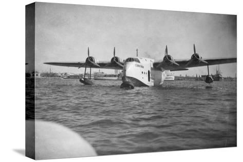 Short Empire Flying Boat 'Corinthian, Alexandria, Egypt, C1938-C1941--Stretched Canvas Print
