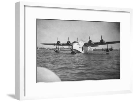 Short Empire Flying Boat 'Corinthian, Alexandria, Egypt, C1938-C1941--Framed Art Print