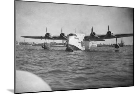 Short Empire Flying Boat 'Corinthian, Alexandria, Egypt, C1938-C1941--Mounted Giclee Print
