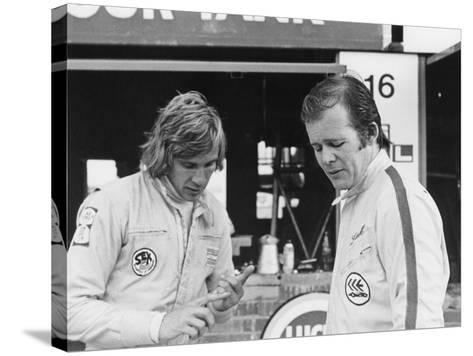James Hunt with Charles Lucas, C1970--Stretched Canvas Print