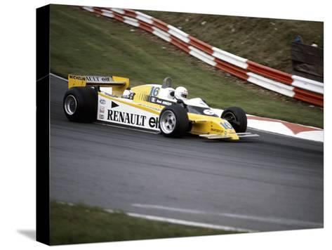 Rene Arnoux Racing a Renault Re20, British Grand Prix, Brands Hatch, 1980--Stretched Canvas Print