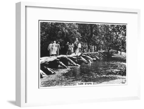 Tarr Steps, across the River Barle in Exmoor, Somerset, 1937--Framed Art Print