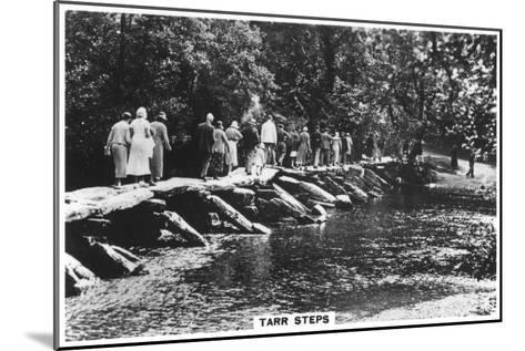 Tarr Steps, across the River Barle in Exmoor, Somerset, 1937--Mounted Giclee Print