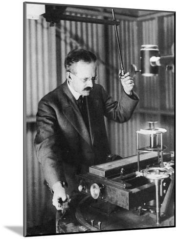 George Ellery Hale (1868-193), American Astronomer, Observing Sunspots, 1907--Mounted Giclee Print