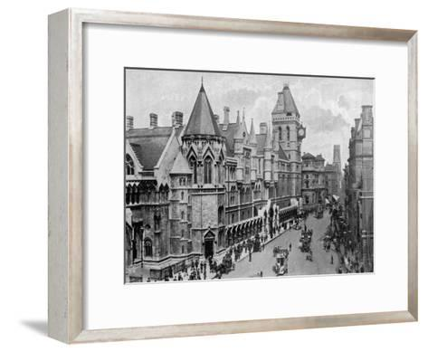 The Royal Courts of Justice, Strand, Westminster, London, 1904--Framed Art Print