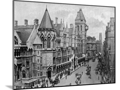 The Royal Courts of Justice, Strand, Westminster, London, 1904--Mounted Giclee Print