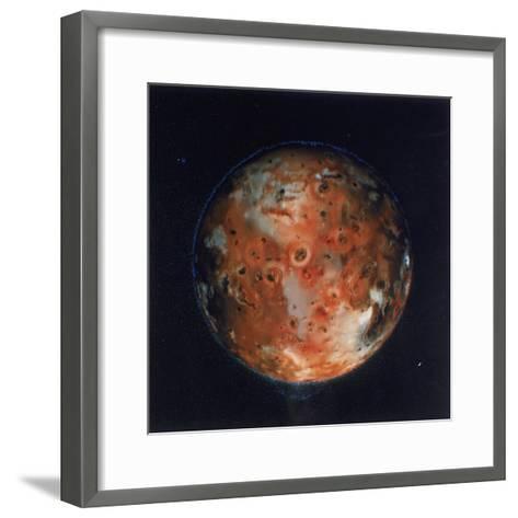 Full View of Io, One of the Moons of Jupiter, 1979--Framed Art Print
