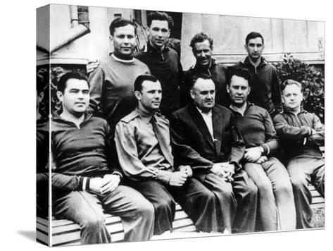Russian Rocket Engineer Sergey Korolyov with Cosmonauts, Crimea, USSR, C1960--Stretched Canvas Print